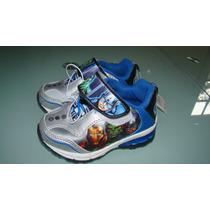 Zapatos Con Luces Avengers Nuevos Talla 6