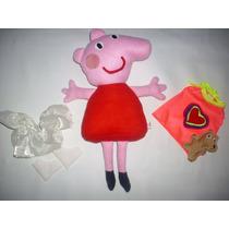 Hermoso Peluche De Peppa Pig Con Accesorios