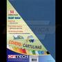 Cartulina Textura De Cuero Tamaño Carta 150gr 50 Und Azul