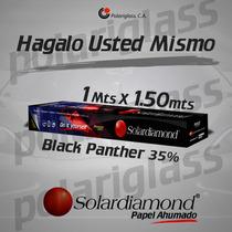 Papel Ahumado Solardiamond Black Panther 35% 1m X 1,50m.