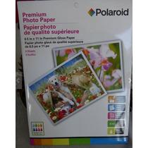Papel Fotografico Polaroid Premiun Gloss Paquete De 8 Hojas