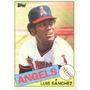 Cl27 1985 Topps #42 Luis Sanchez