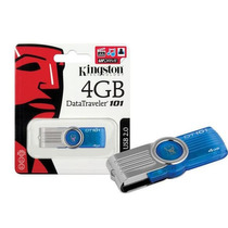 Pendrive Kingston 4 Gb Data Traveler 101 Gen 2 Blue Worldnet