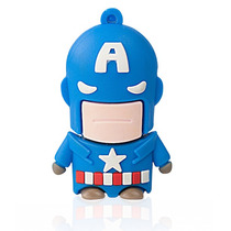 Pendrive Capitán América 8gb Memoria Usb Tiendasinnova