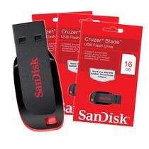 Pen Drive Sandisk 16gb Cruzer Blade Nuevo En Blister