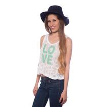 Franela Encajes Love Verde Agua Saints Clothes