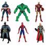 Pack 6 Muñecos Avengers Juguete Niños Hulk Spiderman Capitan