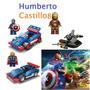 Combo Avengers Los Vengadores Figura Con Carro + De46 Piezas