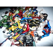 Figuras De Acción, Papel Endurecido, Dc, Marvel, Superheroes