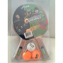 Set De Dos Raquetas Y Tres Pelotas De Ping Pong Stiga
