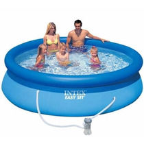 Piscina Familiar Inflable 305 X 76cm + Bomba Filtrante Intex