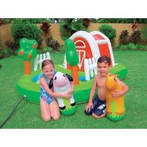 Piscina Inflable Centro De Juegos Granja Intex