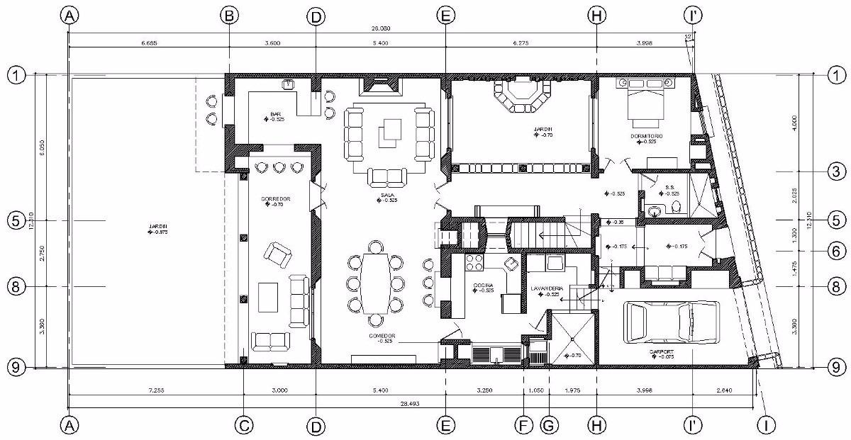 Planos autocad casas locales oficina san diego san for Oficinas planta arquitectonica