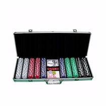 Maletín De Poker 500 Fichas 11,5 Grs +2 Maso Cartas+5 Dados