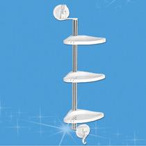 Repisa Para Esquina De Cocinas Y Baños 3 Tramos Y Ventosas