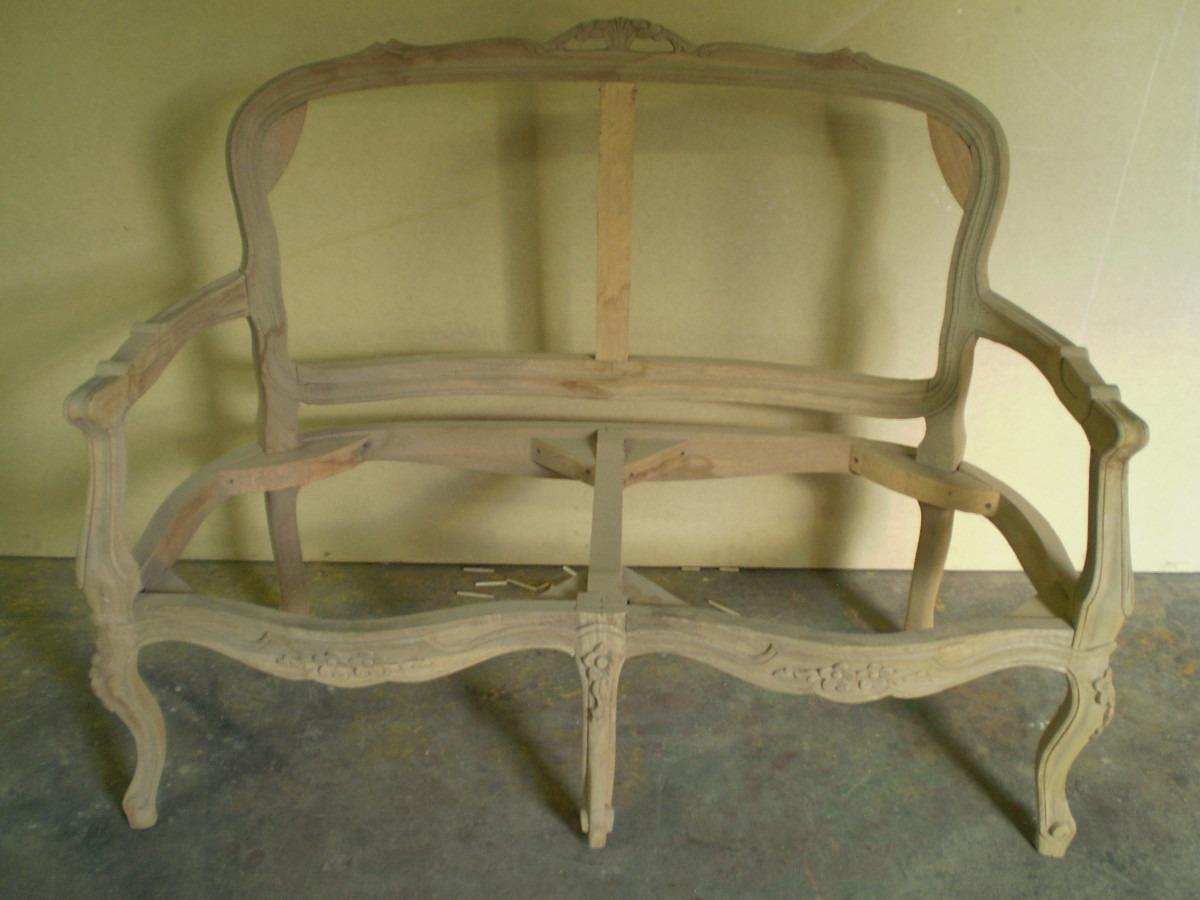 Precioso Sofa Estilo Luis Xv 2 Puestos En Crudo En Apamate  Bs 150