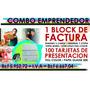 Talonario D Factura + 100 Tarjetas Presentacion Promocion