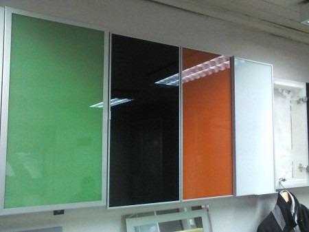 Puertas de aluminio cocinas empotradas perfiles y vidrios - Puertas de aluminio para cocinas ...