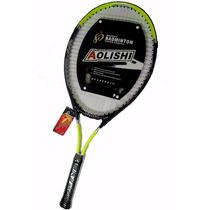 Raqueta Tenis Al-022 Aolishi Sport Yellow-black 275gr +bolso