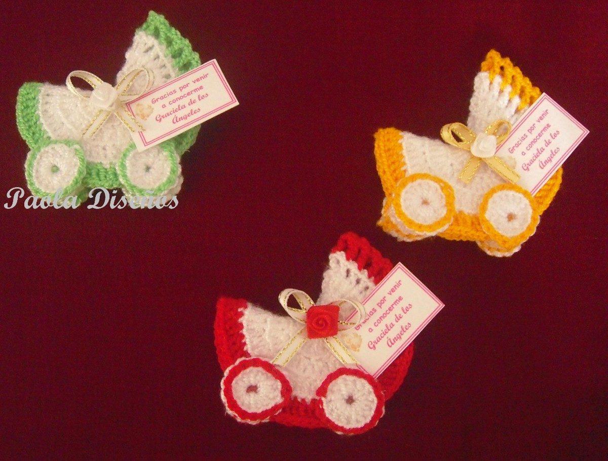 Como hacer recuerditos tejidos para baby shower - Imagui