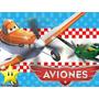 Kit Imprimible Aviones Disney Diseña Tarjetas, Cumples Y Mas