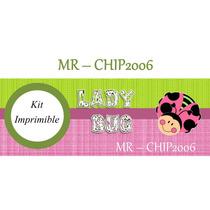 Kit Imprimible Mariquita Lady Bug - Diseña Invitaciones