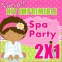 Kit Imprimible Spa Party 2x1 Fiesta De Spa