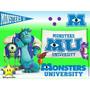 Kit Imprimible Monster Inc University Diseñá Tarjetas