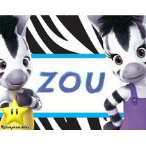 Kit Imprimible Zou La Cebra Diseñá Tarjetas, Cumples Y Mas