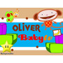 Kit Imprimible Oliver De Baby Tv Diseñá Tarjetas Cumple