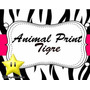 Kit Imprimible Animal Print Zebra Y Tigre Diseñá Tarjetas