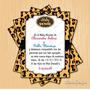 Kit Imprimible Baby Shower Leopard Print Pdf Personalizado