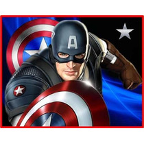 Kit Imprimible Capitan America Cotillon Invitaciones