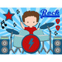 Kit Imprimible Rock Star Candy Bar Tarjetas Y Mas