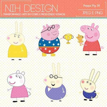 Kit Imprimible Pack Fondos Peppa Pig 9 Clipart