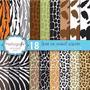 Kit Imprimible Pack Fondos Animal Print 4 Clipart