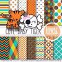 Kit Imprimible Pack Fondos Safari 4 Clipart