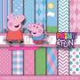 Kit Imprimible Pack Fondos Peppa Pig Clipart