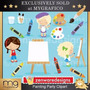 Kit Imprimible Pintura Pintando 3 Imagenes Clipart