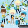 Kit Imprimible Rock Stars 6 Imagenes Clipart