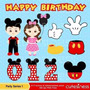Kit Imprimible Mickey Mouse 6 Imagenes Clipart