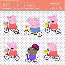 Kit Imprimible Pack Fondos Peppa Pig 13 Clipart
