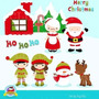Kit Imprimible Navidad 2 Imagenes Clipart