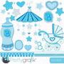 Kit Imprimible Baby Shower Nene 3 Imagenes Clipart