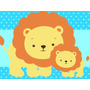 Kit Imprimible Animalitos Safari Baby Shower Niño Niña 2x1