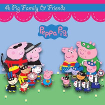 Kit Imprimible Pack Fondos Peppa Pig 4 Clipart