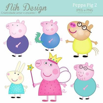 Kit Imprimible Pack Fondos Peppa Pig 6 Clipart