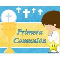 Kit Imprimible Primera Comunión Varón Diseña Tarjetas 2x1