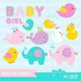 Kit Imprimible Baby Shower Nena Imagenes Clipart
