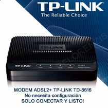 Modem Tp-link Adsl2+ Para Banda Ancha Td-8616 Originales